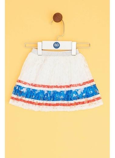 BG Baby Kız Bebek Beyaz Etek Beyaz